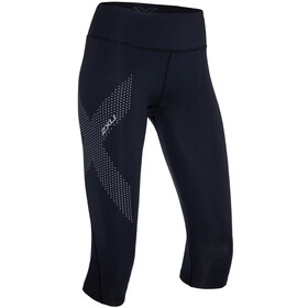 2XU Mid-Rise Compression 3/4 Leggings Dames, black/dotted reflective logo
